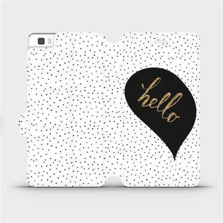 Flipové pouzdro Mobiwear na mobil Huawei P8 Lite - M013P Golden hello
