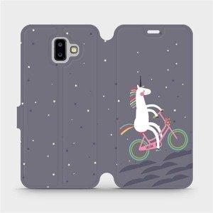 Flipové pouzdro Mobiwear na mobil Samsung Galaxy J6 Plus 2018 - V024P Jednorožec na kole