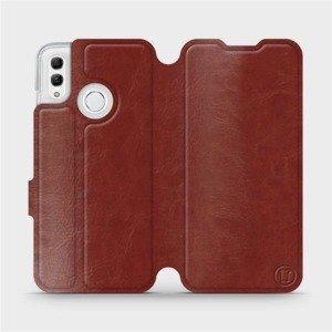 Flipové pouzdro Mobiwear na mobil Honor 10 Lite v provedení C_BRS Brown&Gray s šedým vnitřkem