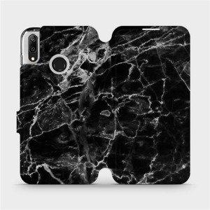 Flipové pouzdro Mobiwear na mobil Huawei Y7 2019 - V056P Černý mramor