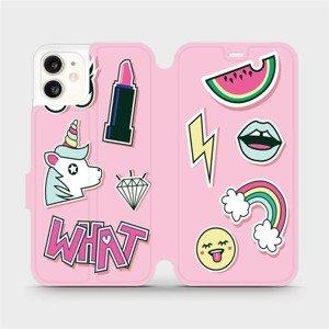 Flipové pouzdro Mobiwear na mobil Apple iPhone 11 - M129S Růžové WHAT