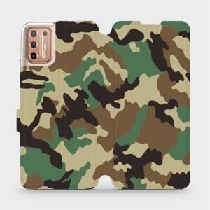 Flipové pouzdro Mobiwear na mobil Motorola Moto G9 Plus - V111P Maskáče