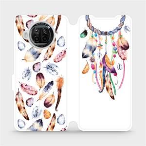 Flipové pouzdro Mobiwear na mobil Xiaomi MI 10T Lite - M003S Lapač a barevná pírka