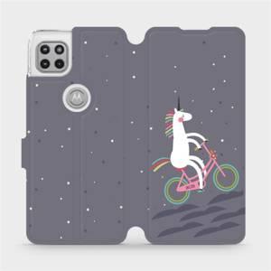 Flipové pouzdro Mobiwear na mobil Motorola Moto G 5G - V024P Jednorožec na kole