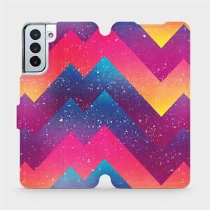 Flipové pouzdro Mobiwear na mobil Samsung Galaxy S21 Plus 5G - V110S Barevné klikyháky