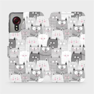 Flipové pouzdro Mobiwear na mobil Samsung Galaxy Xcover 5 - M099P Kočičky