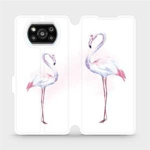 Flipové pouzdro Mobiwear na mobil Xiaomi Poco X3 Pro - M005S Plameňáci
