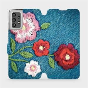 Flip pouzdro Mobiwear na mobil Samsung Galaxy A32 LTE - MD05P Džínové květy