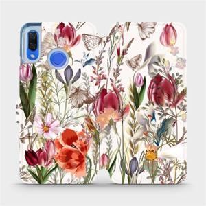 Flip pouzdro Mobiwear na mobil Huawei Nova 3 - MP01S Rozkvetlá louka