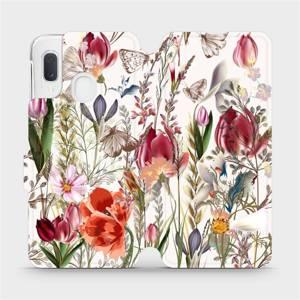 Flip pouzdro Mobiwear na mobil Samsung Galaxy A20e - MP01S Rozkvetlá louka