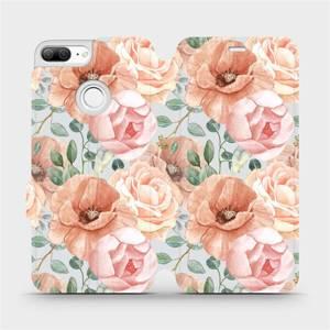 Flip pouzdro Mobiwear na mobil Honor 9 Lite - MP02S Pastelové květy
