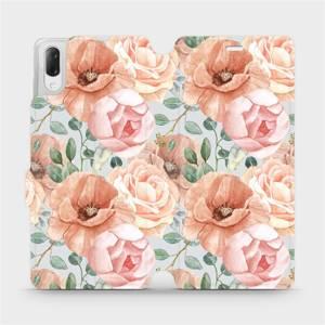 Flip pouzdro Mobiwear na mobil Sony Xperia L3 - MP02S Pastelové květy