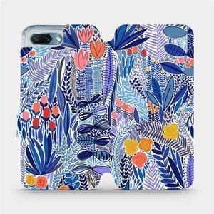 Flip pouzdro Mobiwear na mobil Honor 10 - MP03P Modrá květena
