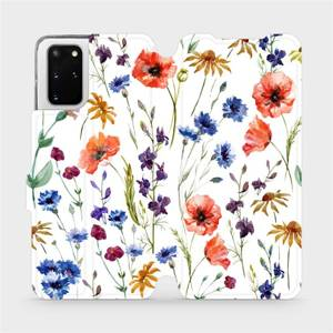 Flip pouzdro Mobiwear na mobil Samsung Galaxy S20 Plus - MP04S Luční kvítí