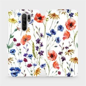 Flip pouzdro Mobiwear na mobil Xiaomi Redmi 9 - MP04S Luční kvítí - výprodej