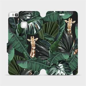 Flip pouzdro Mobiwear na mobil Huawei P9 Lite - VP06P Žirafky