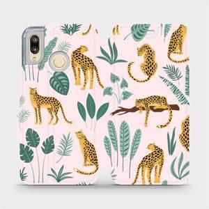 Flip pouzdro Mobiwear na mobil Huawei P20 Lite - MP07S Leopardi
