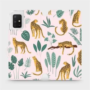 Flip pouzdro Mobiwear na mobil Samsung Galaxy A51 - MP07S Leopardi