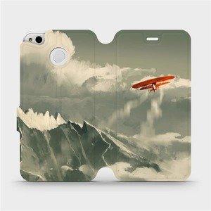 Flipové pouzdro Mobiwear na mobil Xiaomi Redmi 4X - MA03P Oranžové letadlo v horách