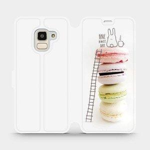 Flipové pouzdro Mobiwear na mobil Samsung Galaxy J6 2018 - M090P Makronky - have a nice day