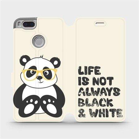 Flipové pouzdro Mobiwear na mobil Xiaomi Mi A1 - M041S Panda - life is not always black and white