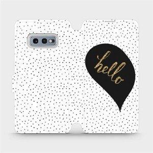 Flipové pouzdro Mobiwear na mobil Samsung Galaxy S10e - M013P Golden hello