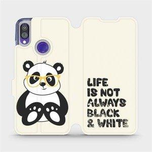 Flipové pouzdro Mobiwear na mobil Xiaomi Redmi Note 7 - M041S Panda - life is not always black and white