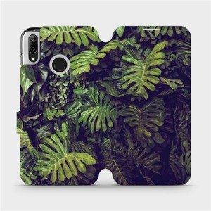 Flipové pouzdro Mobiwear na mobil Huawei Y7 2019 - V136P Zelená stěna z listů