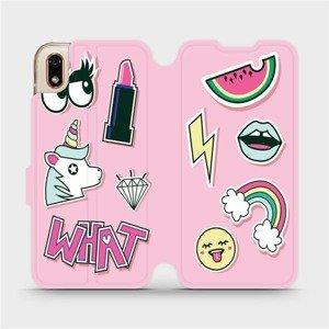 Flipové pouzdro Mobiwear na mobil Huawei Y5 2019 - M129S Růžové WHAT
