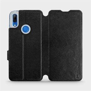Flipové pouzdro Mobiwear na mobil Huawei P Smart Z v provedení C_BLP Black&Orange s oranžovým vnitřkem