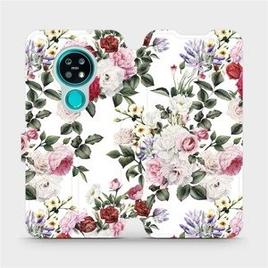 Flipové pouzdro Mobiwear na mobil Nokia 7.2 - MD01S Růže na bílé