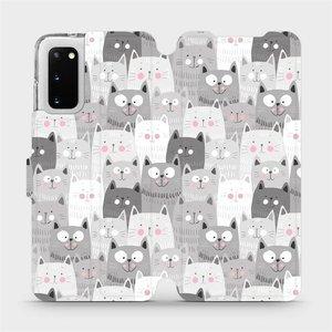 Flipové pouzdro Mobiwear na mobil Samsung Galaxy S20 - M099P Kočičky