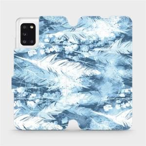 Flipové pouzdro Mobiwear na mobil Samsung Galaxy A31 - M058S Světle modrá horizontální pírka