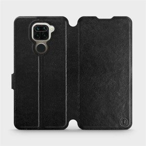 Flipové pouzdro Mobiwear na mobil Xiaomi Redmi Note 9 v provedení C_BLS Black&Gray s šedým vnitřkem