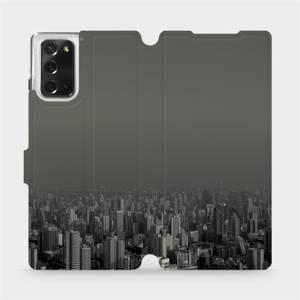 Flipové pouzdro Mobiwear na mobil Samsung Galaxy Note 20 - V063P Město v šedém hávu