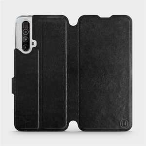 Flipové pouzdro Mobiwear na mobil Realme X3 SuperZoom v provedení C_BLS Black&Gray s šedým vnitřkem