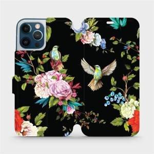 Parádní flip pouzdro Mobiwear na mobil Apple iPhone 12 Pro Max - VD09S Ptáčci a květy