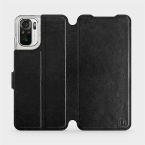 Flipové pouzdro Mobiwear na mobil Xiaomi Redmi Note 10 v provedení C_BLS Black&Gray s šedým vnitřkem