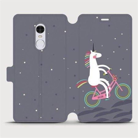 Flipové pouzdro Mobiwear na mobil Xiaomi Redmi Note 4 Global - V024P Jednorožec na kole