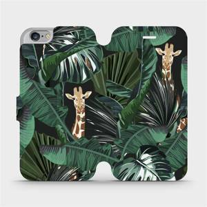 Flip pouzdro Mobiwear na mobil Apple iPhone 6s / iPhone 6 - VP06P Žirafky