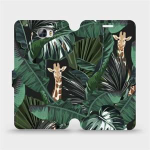 Flip pouzdro Mobiwear na mobil Huawei Y6 II Compact - VP06P Žirafky