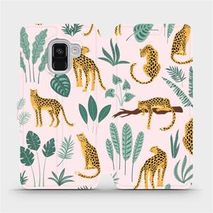 Flip pouzdro Mobiwear na mobil Samsung Galaxy A8 2018 - MP07S Leopardi