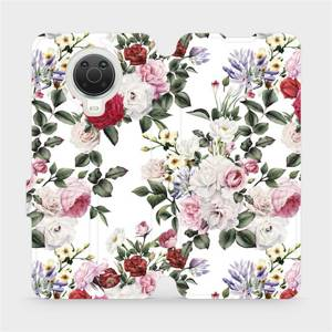 Flip pouzdro Mobiwear na mobil Nokia G20 - MD01S Růže na bílé