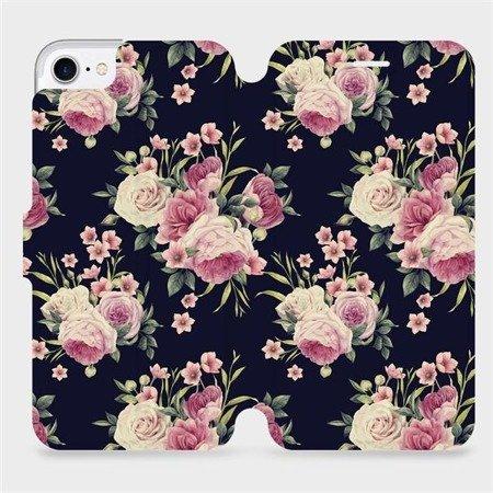 Flipové pouzdro Mobiwear na mobil Apple iPhone 8 - V068P Růžičky