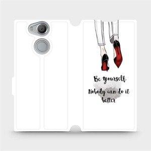 Flipové pouzdro Mobiwear na mobil Sony Xperia XA2 - M046P Be yourself