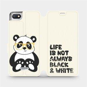Flipové pouzdro Mobiwear na mobil Xiaomi Redmi 6A - M041S Panda - life is not always black and white