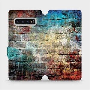 Flipové pouzdro Mobiwear na mobil Samsung Galaxy S10 Plus - V061P Zeď
