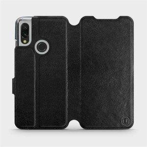 Flipové pouzdro Mobiwear na mobil Xiaomi Redmi 7 v provedení C_BLS Black&Gray s šedým vnitřkem