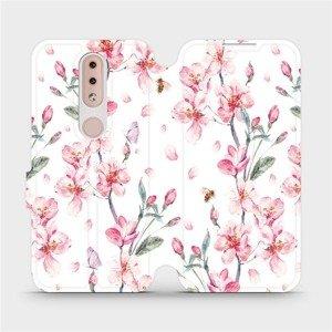 Flipové pouzdro Mobiwear na mobil Nokia 4.2 - M124S Růžové květy