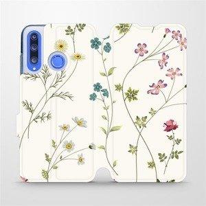 Flipové pouzdro Mobiwear na mobil Honor 20 Lite - MD03S Tenké rostlinky s květy